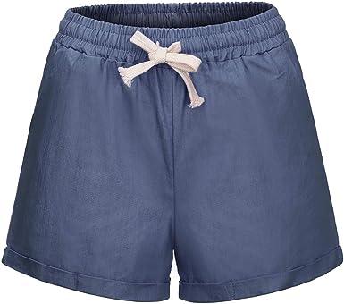 Wiltson Pantalones Cortos Informales de algodón para Mujer de ...