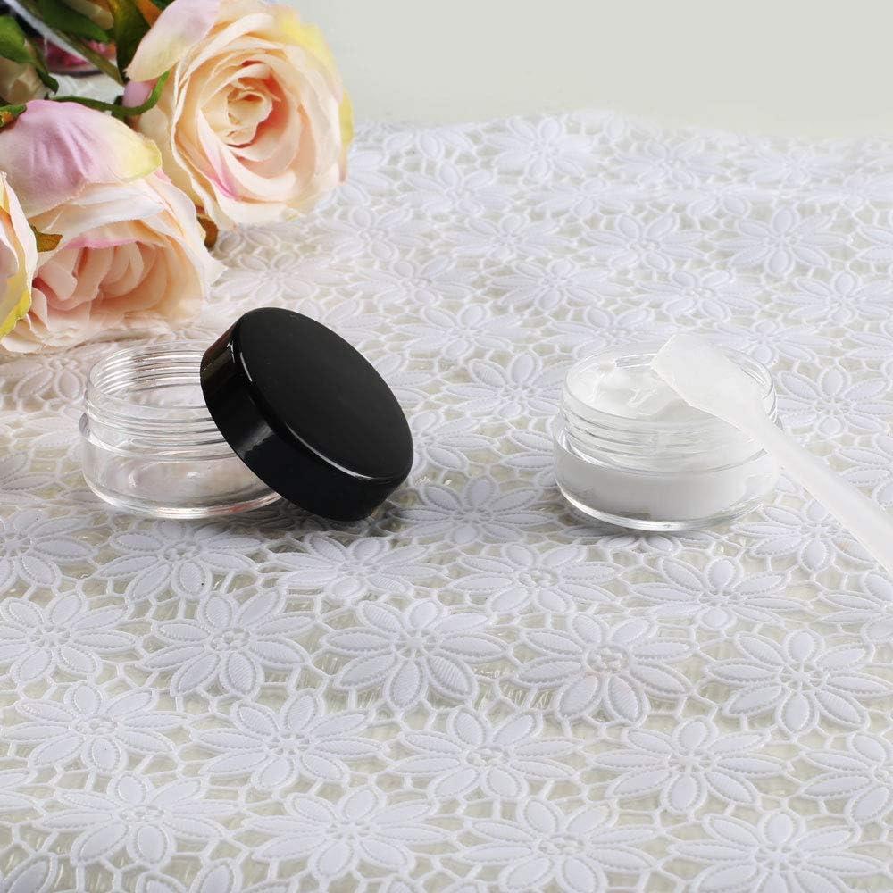 ETSAMOR 20 Unids Frascos Envases de cosméticos vacíos Frascos de Viaje de plástico Transparente con raspador de Tapa Almacenamiento para Muestra Sombra de Ojos Crema para la Cara Cosméticos: Amazon.es: Belleza