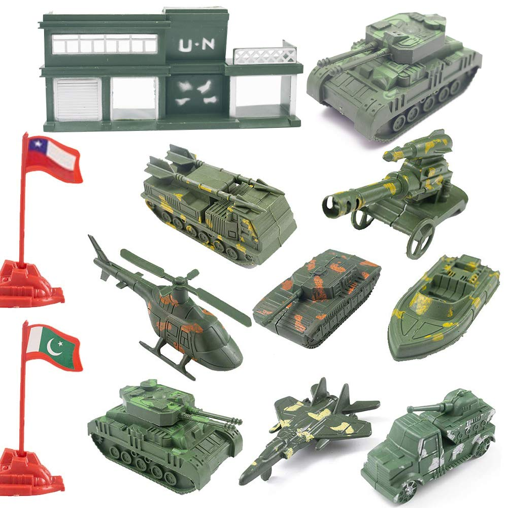 Military Base Set, 307PCS Army Toys World War II Soldiers Plastic Army Men Combat Special Forces with Hand Bag Birthday for Party Favor