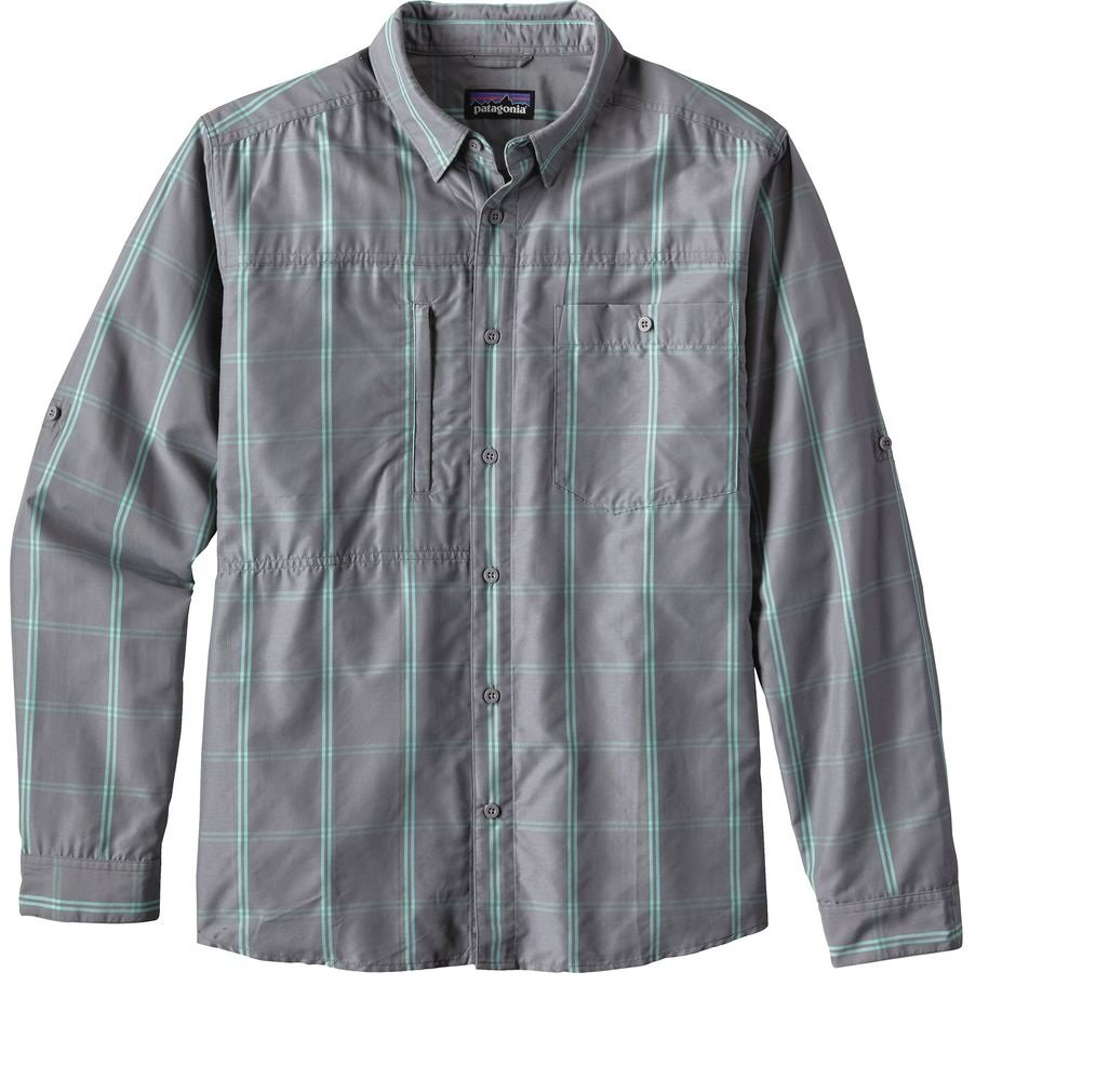 Patagonia Long-Sleeved Gallegos Shirt (Grey, Large) by Patagonia
