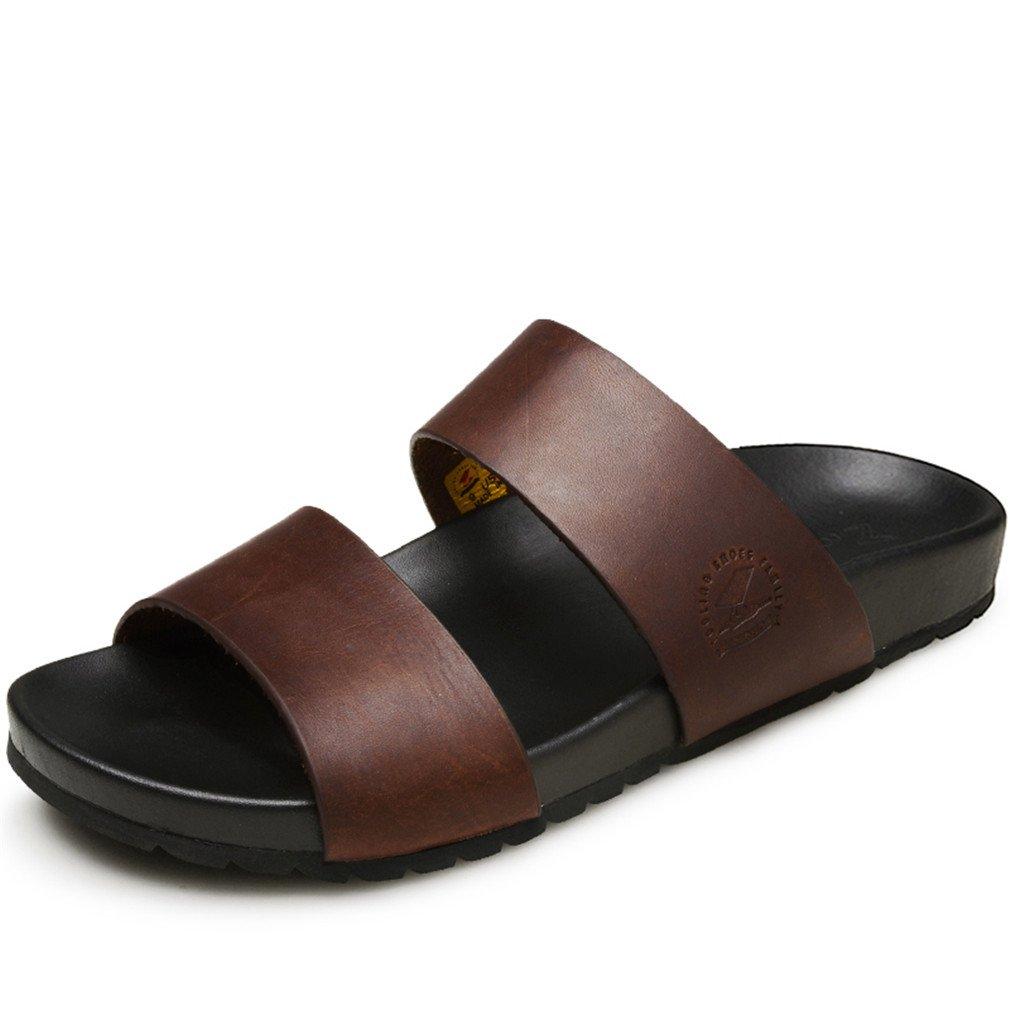 NEW Summer Men Slides Rubber Slippers Flip Flop Sandals Beach Shoes B07B9RVG91 8 Brown