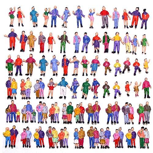 100x Modèle Figurines DE PERSONNAGES EN COULEUR 18MM échelle 1:87 HO