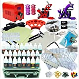 1Tattoo World Premium Tattoo Kit-OTW-KTR225A, 2 Tattoo Machines with all the Essentials