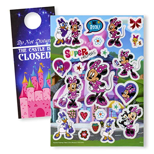 Minnie Mouse Jumbo Stickers - Extra Large Raised Minnie Mouse Stickers (Mouse Dimensional Minnie Stickers)