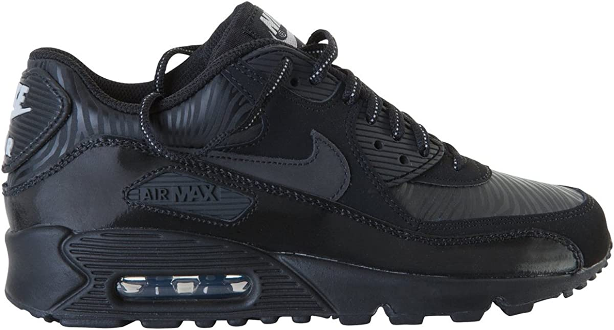 GS Black//Silver Kids 307793-074 NIKE Air Max 90
