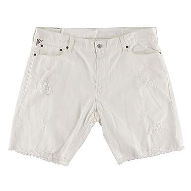 3529af04c Denim   Supply Ralph Lauren Mens Kingwood Straight-Fit Cutoff Shorts White  30