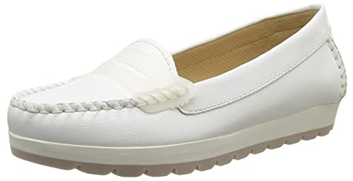 Geox D Senda S, Mocasines para Mujer, Blanc (Optic White), 37.5 EU: Amazon.es: Zapatos y complementos
