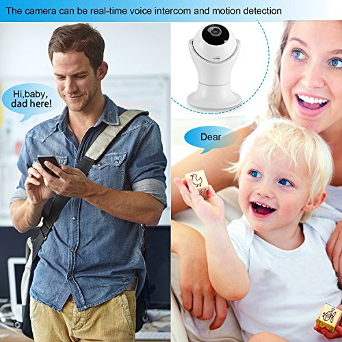 Vanxse CCTV 2.0MP 1080P IR Night Vision WIFI Wireless Pan/Tilt Network IP Camera webcam Remote View For Home Security and Surveillance(DLS002) by Vanxse (Image #5)