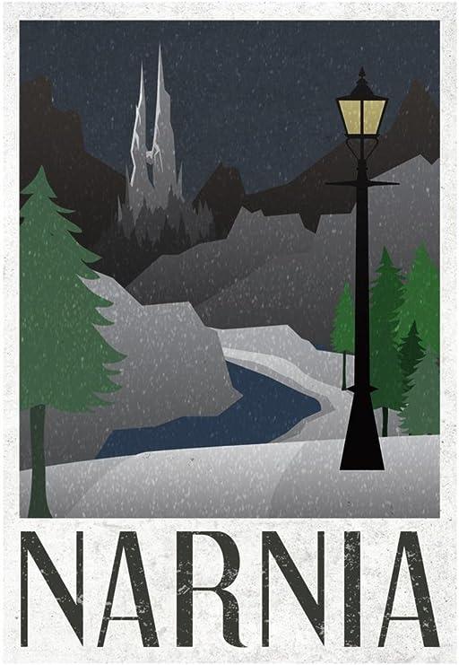 Amazon.com: Narnia Retro Cartel 13 x 19 en de viaje con ...