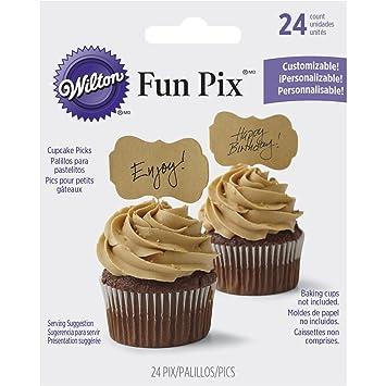 Amazon Wilton 2113 9362 Customizable Kraft Cupcake Toppers