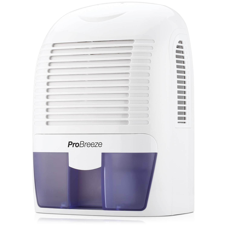 Pro Breeze Electric Mini Dehumidifier, 2200 Cubic Feet (250 sq ft), Compact Portable Damp Air, Mold, Moisture in Home, Kitchen, Bedroom, Basement, Caravan, Office, Garage