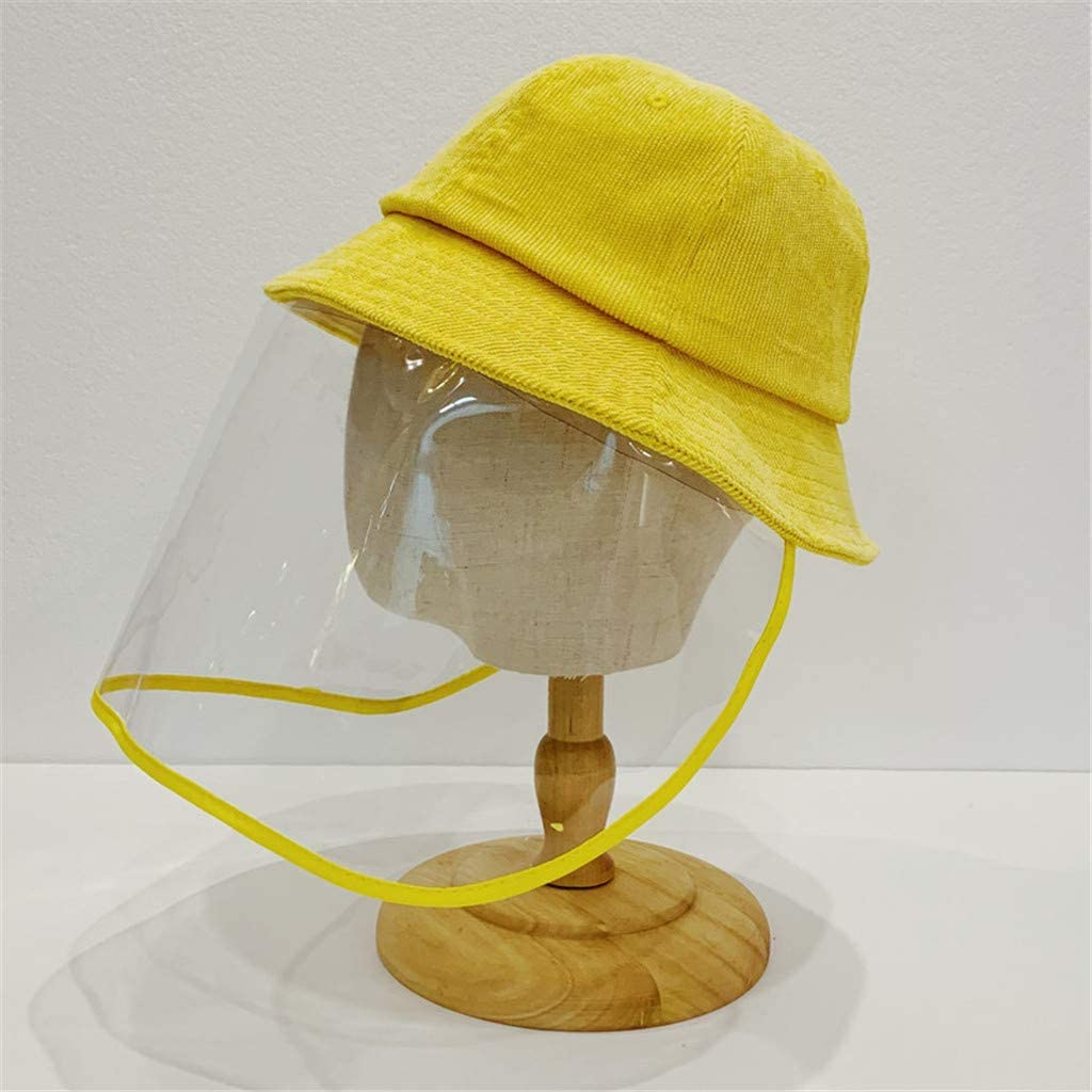 Momola/_ Hat for 4-8 years old Children Protective Dustproof Cover Peaked Cup Yellow
