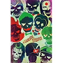 """Trends International Suicide Squad Faces Wall Poster 22.375"""" x 34"""""""