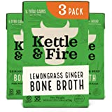 Kettle and Fire Lemongrass Ginger Beef Bone Broth, Keto, Paleo, and Whole 30 Approved, Gluten Free, High in Protein and Colla