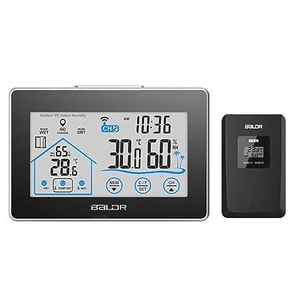 Pantalla táctil LCD Pantalla grande Pantalla interior Temperatura y humedad Reloj digital rectangular Reloj electrónico Estación