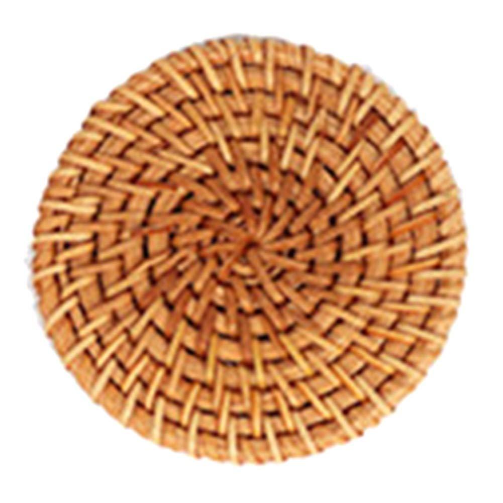 tapis de pot en bambou Rotin fait /à la main Bernard KelsenBer Sets de table ronds dessous de verre en rotin tiss/é 2XL