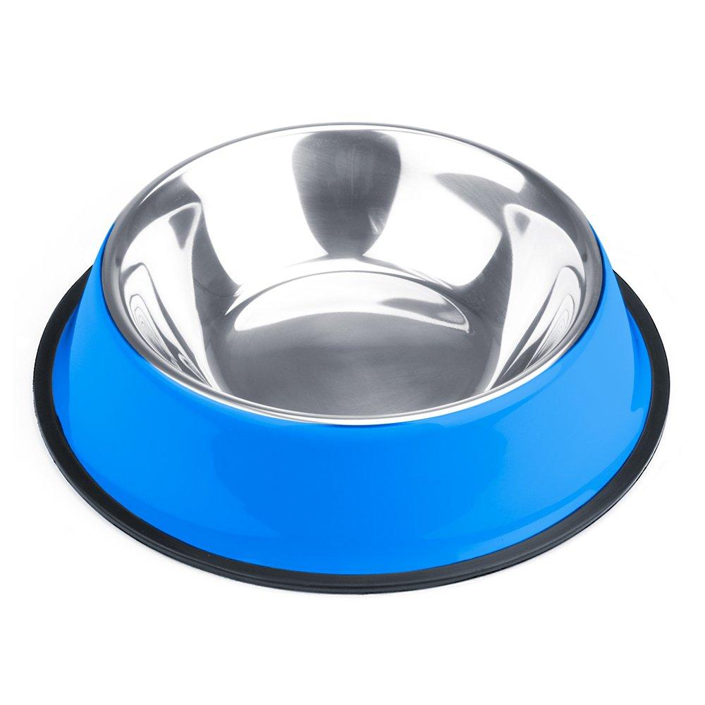 Weebo Pets Blue No-Tip No-Slip Stainless Steel Bowl (24oz. Bruiser)