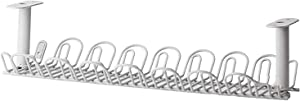 Cable Management Tray, 14 inches Under Desk Cable Organizer for Wire Management, Heavy Metal Wire Cable Tray for Desks, Offices, and Kitchens (Gray)