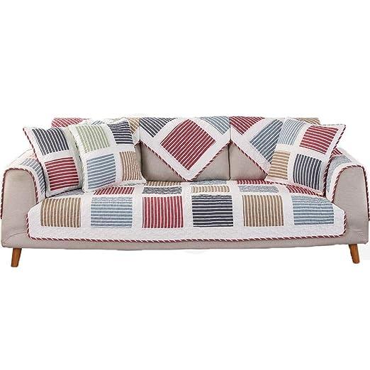 HOMHOM Funda de sofá de algodón nórdico, Funda de sofá ...