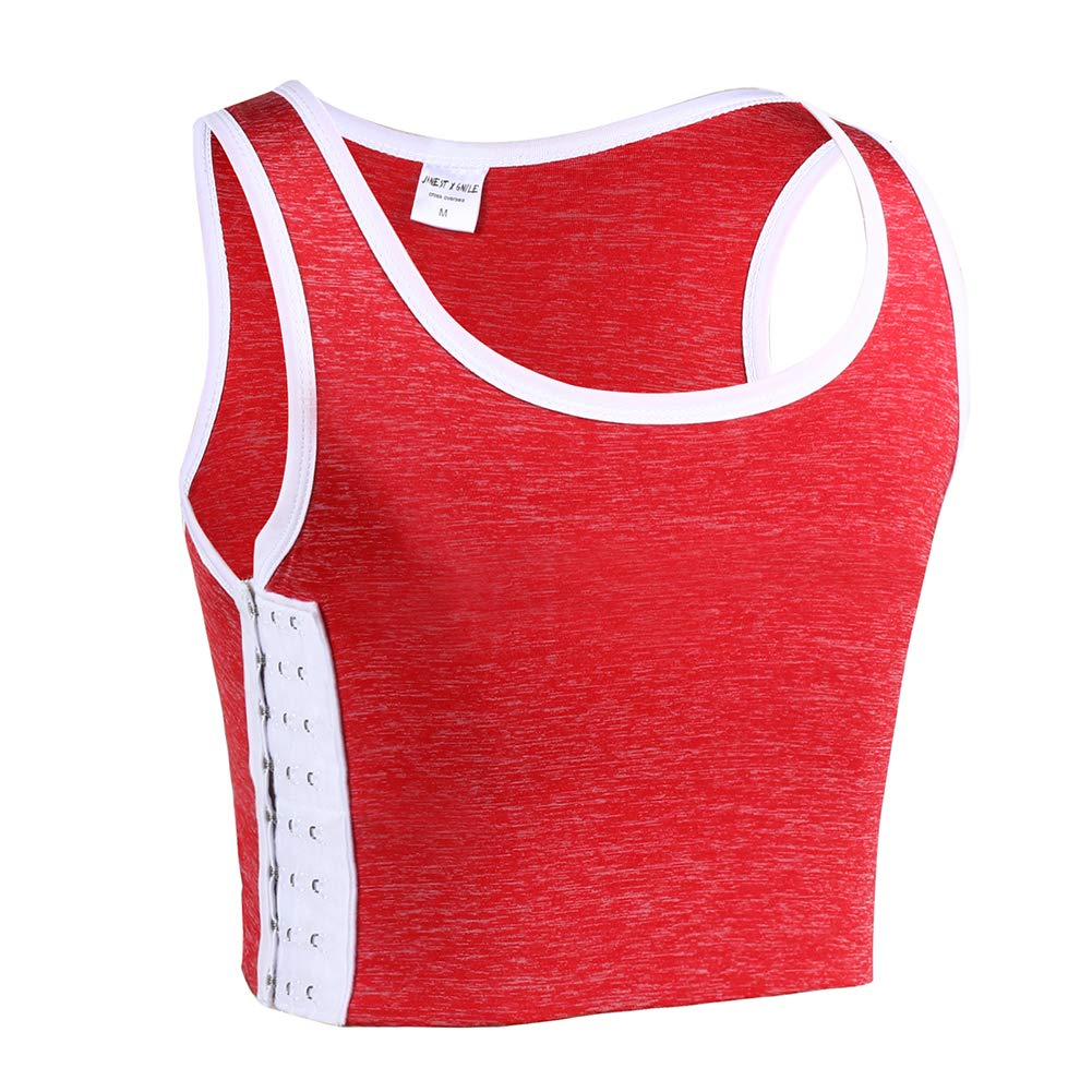 JARAZIN Women Tomboy Elastic Band Colors Chest Binder Tank Top