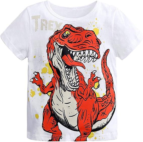 Camiseta Estampada Dinosaurio para bebé niños, Camiseta Manga Corto Bebes niños niñas Camisa de Animal Tops: Amazon.es: Ropa y accesorios