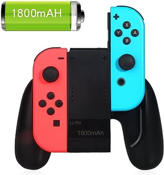 Joy-Con agarre de carga para Nintendo Switch, 1800mAh Power Bank ...