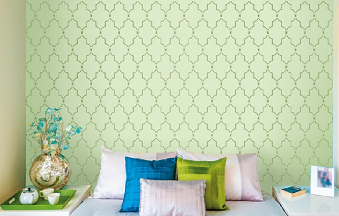 Buy Asian Paints Royale Play Wall Fashion Minarets Stencil Wall Sticker For Home And Office Wall Decor Online At Low Prices In India Amazon In