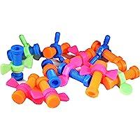 Bonka Bird Toys 2026 Pk12 Plastic Bolt and Wing Nuts Foot Talon Bird Toy
