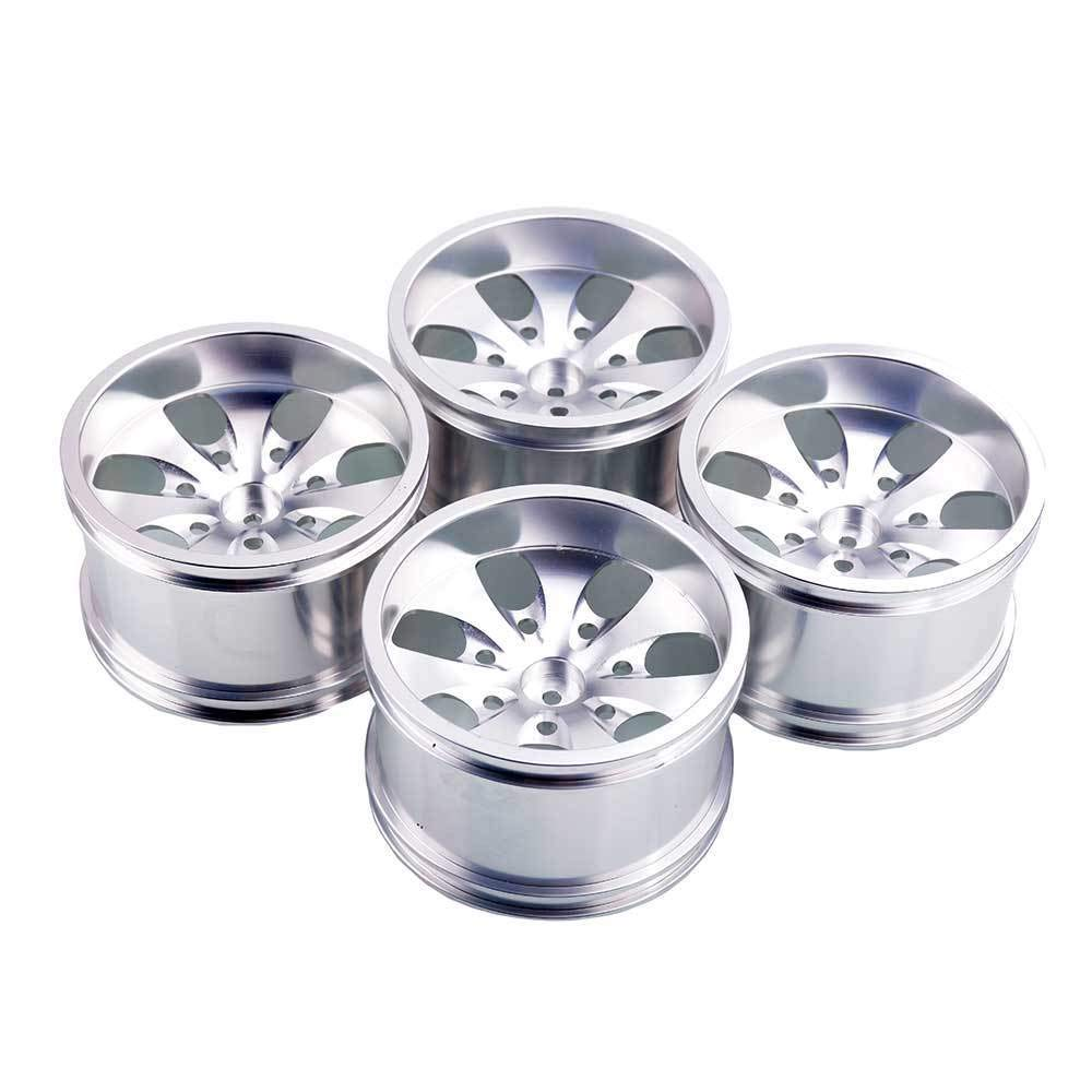 Toyoutdoorparts RC 08008N Silver Alumiunm Wheel 4P Rims D:78mm W:50mm for HSP 1:10 Monster Truck by Toyoutdoorparts (Image #3)