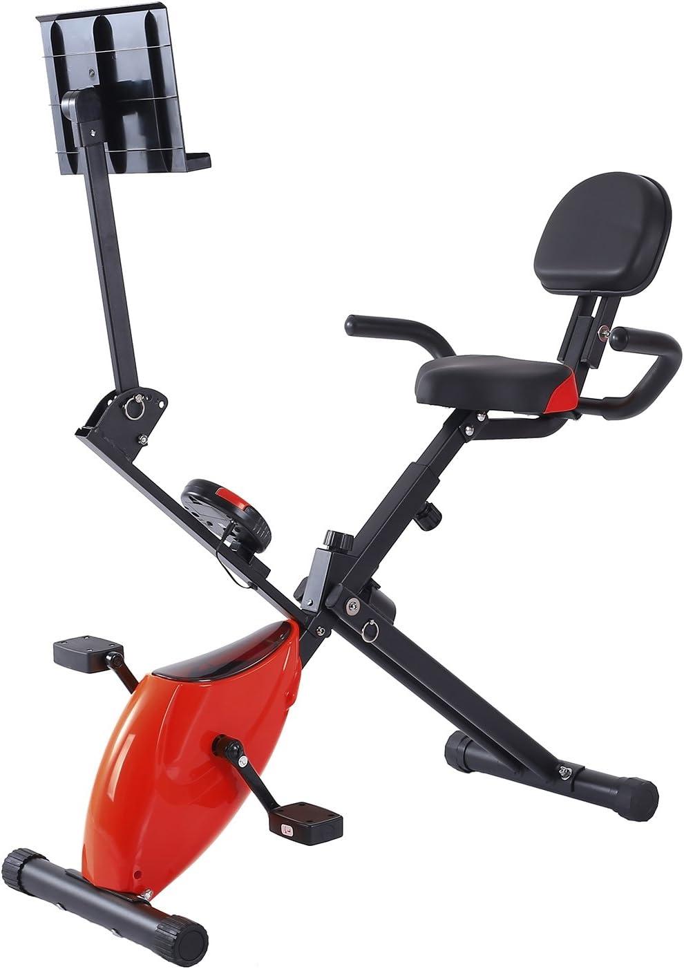 Ferty Fitness reclinado bicicleta estática plegable, cardio ciclo ...