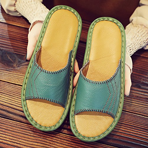 Indoor Summer Slippers fankou Couples Women Sandals Summer Green 35 Slippers 36 Male Summer Slip Slippers Cool Non Home Home 4zqRWFXq