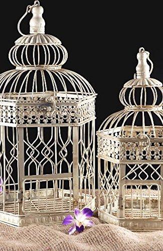 Richland Vintage Bird Cages Cream Hexagon Set of 2
