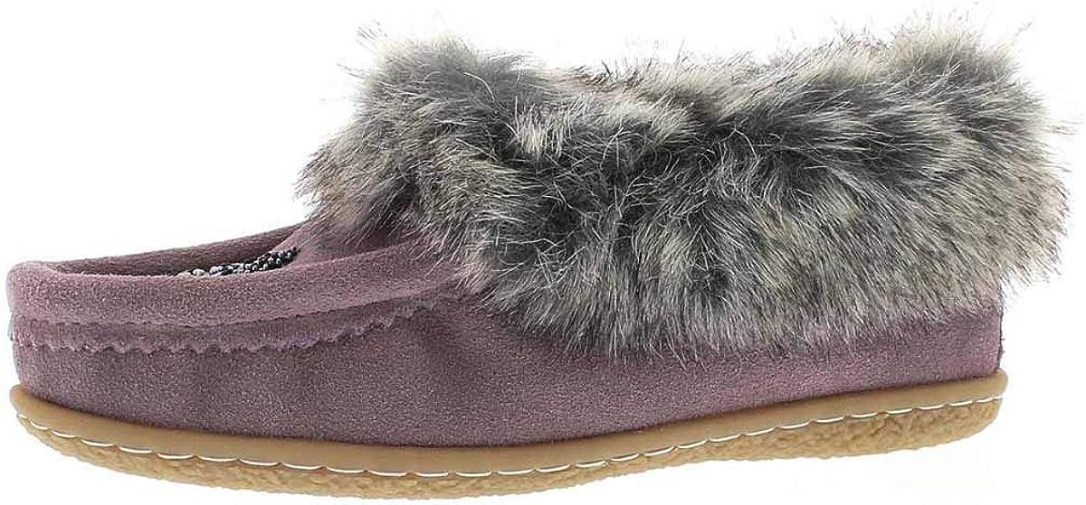 SoftMoc Girls Cute 2 Jr Faux Rabbit Fur Moccasin