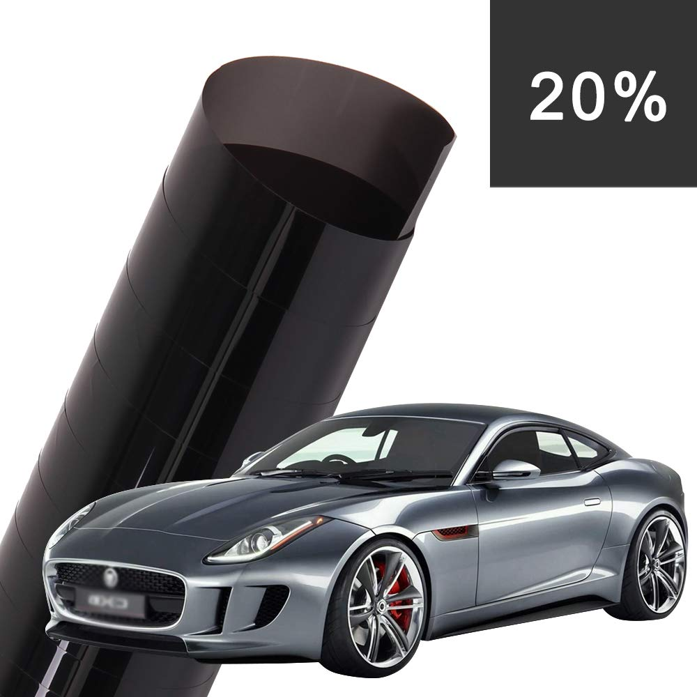 Coldshine 3M x 75cm Car Window Tint Film Reduce Sun Glare Universal Glass UV Shade Vinyl Film for Privacy and Heat Reduction Privacy Glass Window Door Tint Tinting Film Home Office Decor