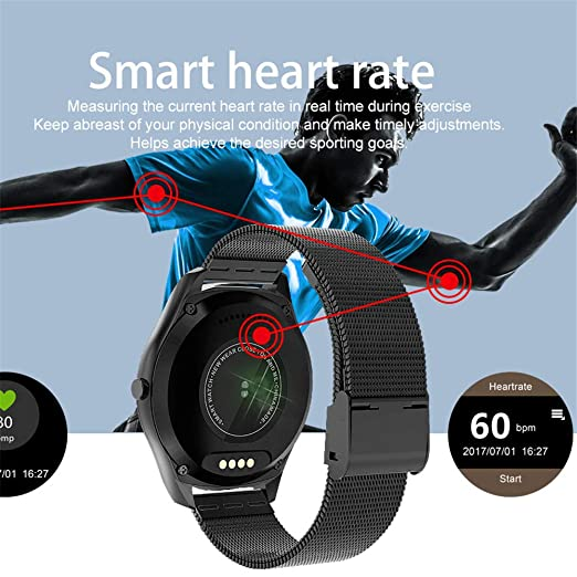 Amazon.com: LXJTT Smart Watch Heart Rate Waterproof ...