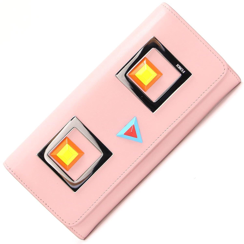 FENDI(フェンディ) 二つ折り長財布 クレヨンズ 8M0251 ライトピンク カーフレザー 中古 ピンク ロングウォレット スクエアアイ スタッズ FENDI [並行輸入品] B0798CGW21