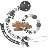 Cadena Chupetes Personalizado Koala Mapache Mordedor Bebes ...