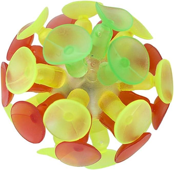 Yeahibaby 4PCS Bola de Succi/ón Multicolor Divertida Ball Flash Luminescence Plaything Bounce Ball para Ni/ños