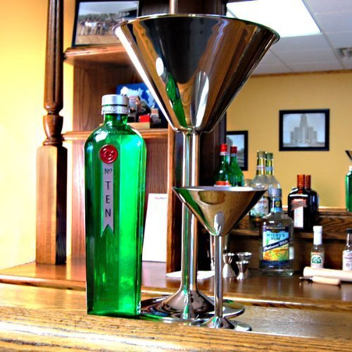 Giant Stainless Steel Martini Glass - Holds 80 oz by American Metalcraft (Centerpiece Bond James)