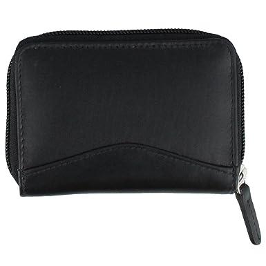 80670e531a ILI Leather Accordian Credit Card Holder Black