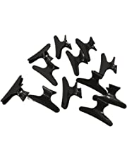 12Pcs Hairdressers Hairdressing Butterfly Hair Claw Salon Clip Clamps Styling
