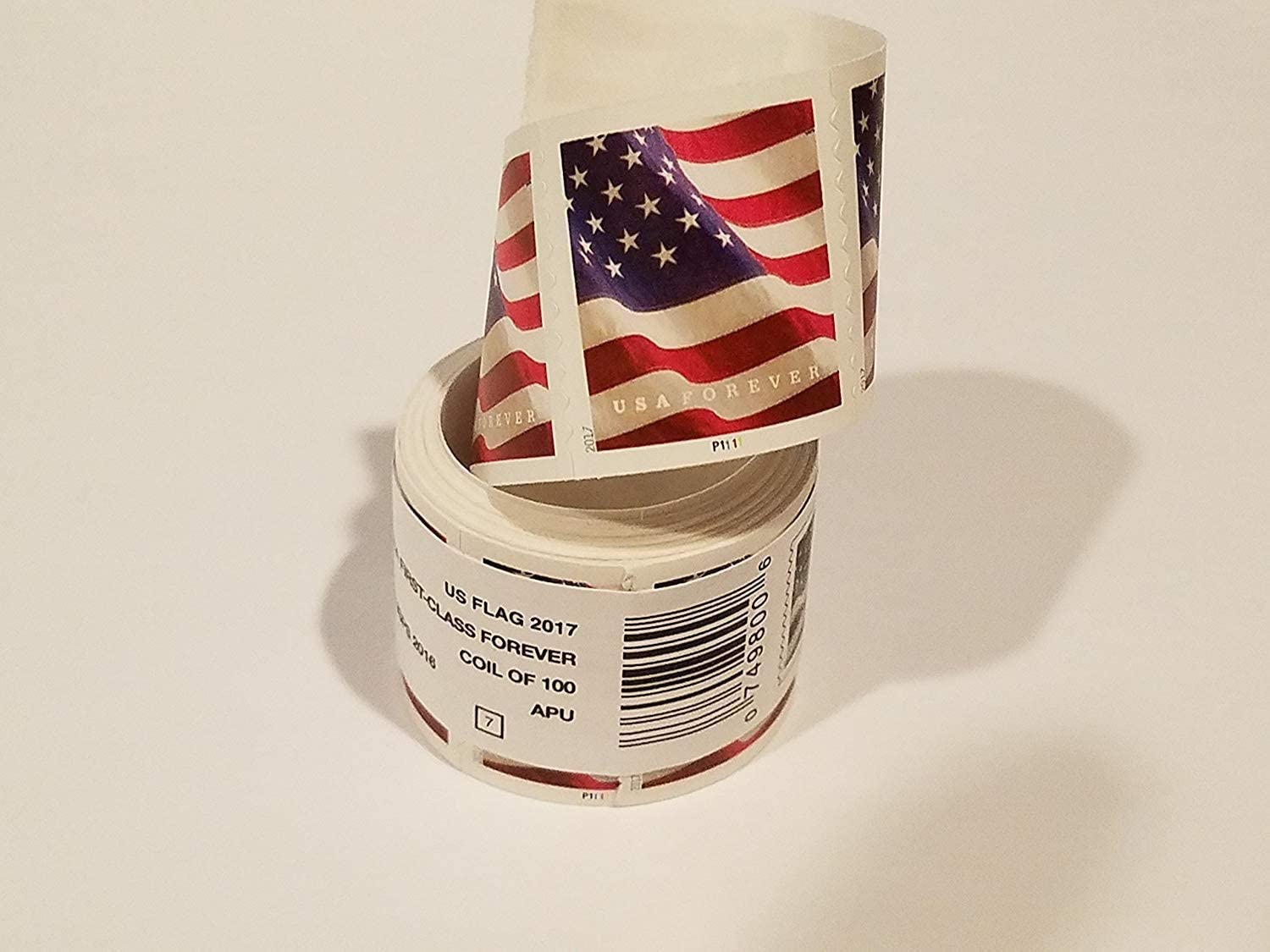 USA Flag 2017 Forever Stamps Roll of 100