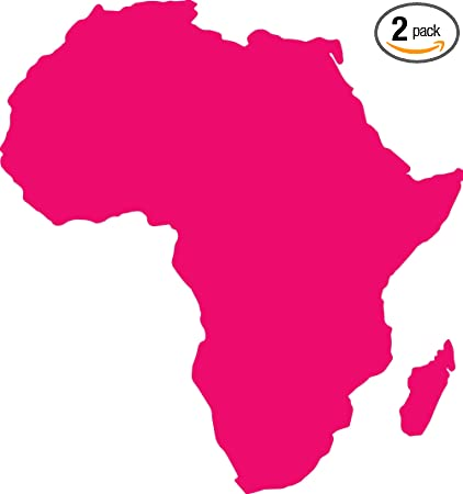 Amazon.com: ANGDEST Africa Map Silhouette (Pink) (Set of 2