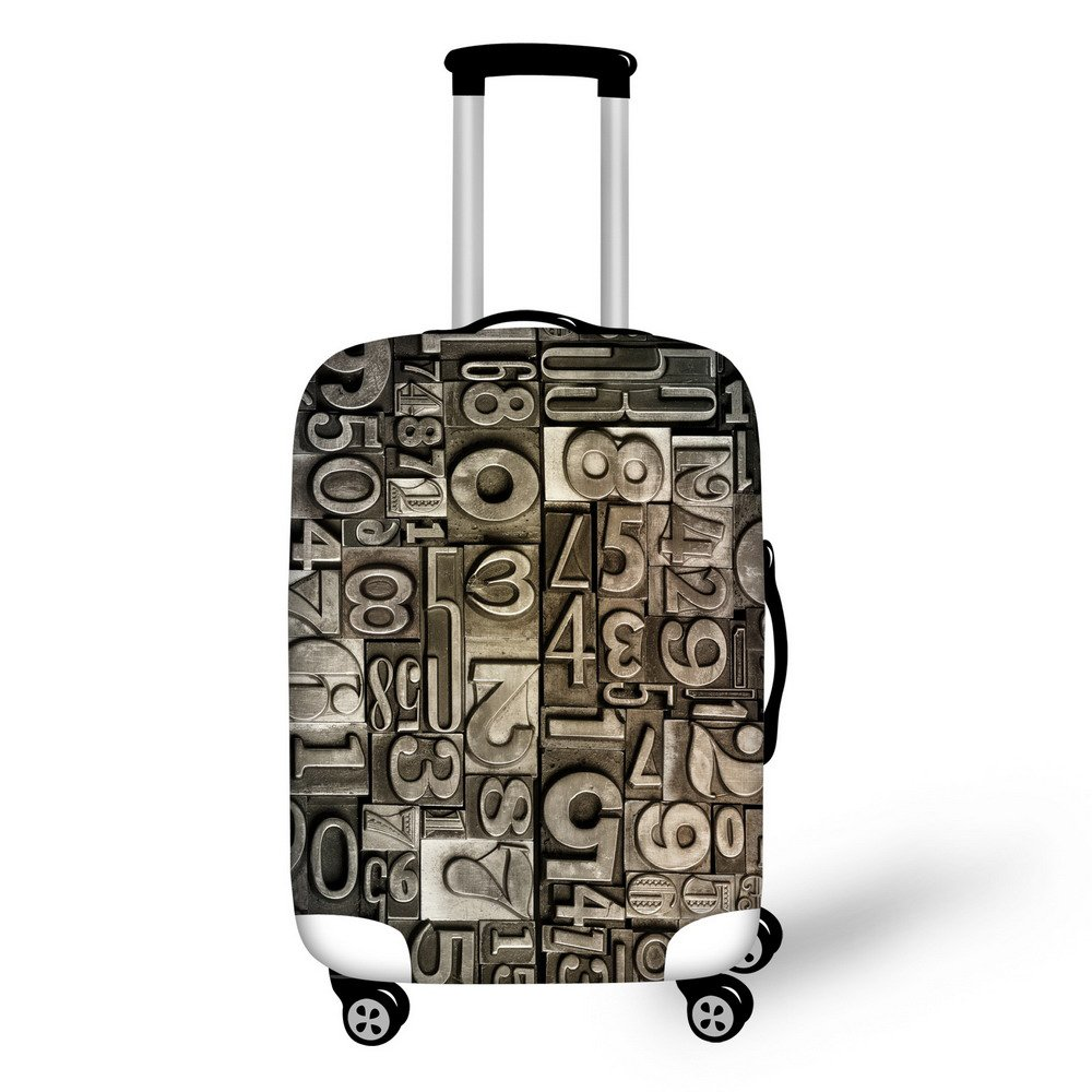For U Designs 18-22 Inch Small Trendy Figure Design Printed Suitcase Protective Cover for Short Trips