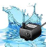 Timaik 80 GPH (300L/H, 4W) Submersible Water Pump