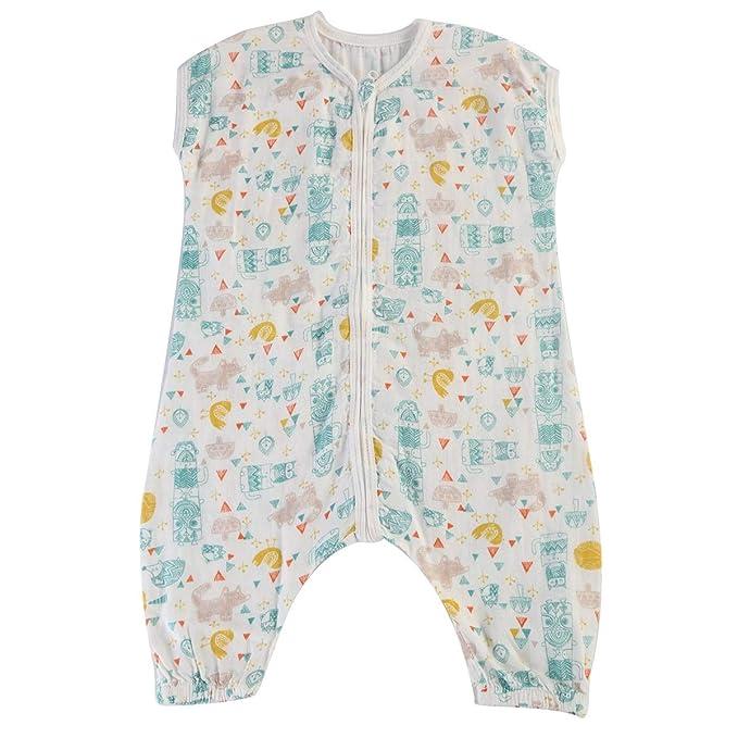 Saco de dormir sin mangas para bebés niños niñas Saco de dormir de algodón de doble capa Niños pequeños Manta ponible: Amazon.es: Ropa y accesorios