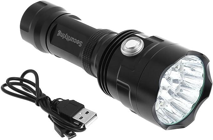 Lampe torche dext/érieur LED rechargeable 30 W avec c/âble de chargement USB