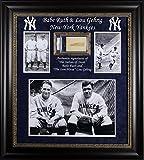 Yankees Babe Ruth & Lou Gehrig Signed & Framed Cut Display Slabbed - PSA/DNA Certified - Baseball Slabbed Autographed Cards