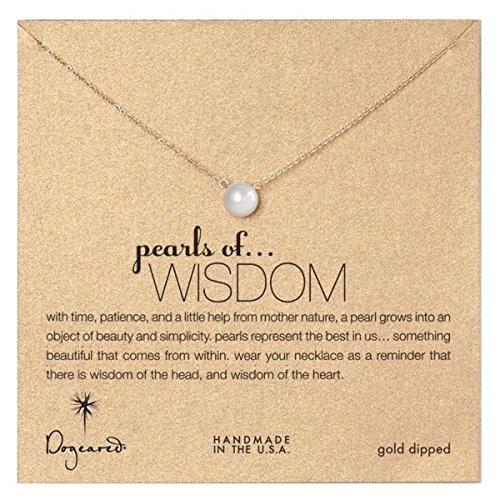 dogeared Pearls de sagesse Blanc-Collier Femme-Perle-Perle, en or trempé