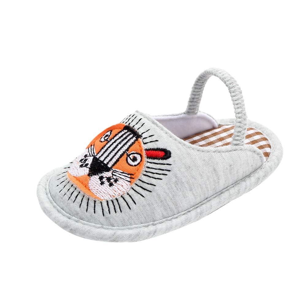 0-12M ELINKMALL Unisex Baby Boys Girls Cartoon Animal Non-Slip Slippers Shoes